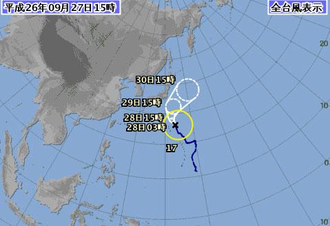 台風17号最新情報