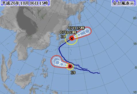 台風18号情報