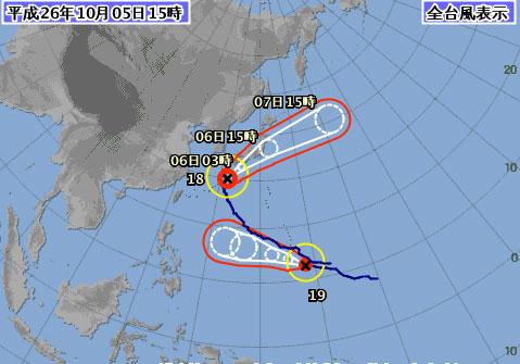 台風18号進路予想最新