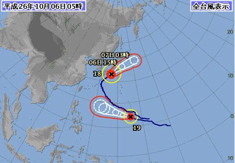 台風18号東海関東影響