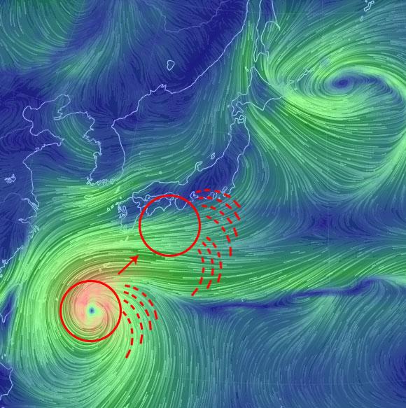 台風19号関東のピークは14日?東京の影響は13日からの理由!