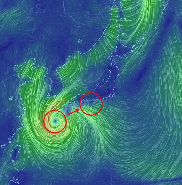 台風19号大阪影響いつ13日14日最接近