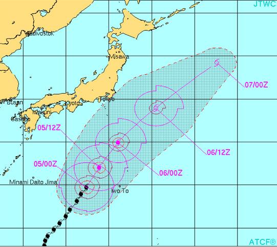 台風20号米軍予想最新