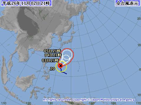 台風20号たまご2014